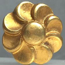 Bouton-fleur vintage - Métal doré 27 mm