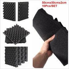 10 x Studio Acoustic Foam Sound Absorption Panel Treatment Egg shell 50x50cmX2cm