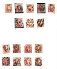 Belgium stamps 1851 Collection of 16 stamps  Cat Value $1750
