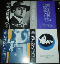 4 ISSUES, CUADERNOS, FUNDACION PABLO NERUDA, SPANISH, POETRY, 1995