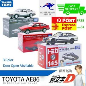 1:64 TAKARA TOMY Tomyca Initial D AE86 Alloy Model Diecast Car Toy & Collection