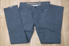 NEXT Button Fly Black Straight Leg Jeans Size 32L W32 X L33