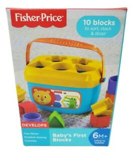 Fisher-Price First Blocks 6M + Basics Baby's Learning Fun Bucket Toy