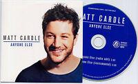 MATT CARDLE Anyone Else UK 2-trk promo CD radio edit / instrumental