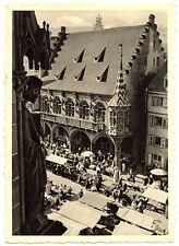 alte Postkarte Freiburg Kaufhaus vom Münster gesehen
