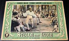 fotobusta originale STELLA DELL'INDIA Cornel Wilde Jean Wallace 1954 #3