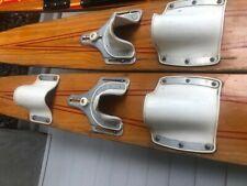 Vtg Pair Mercury Wooden Water Skis Vintage Wood