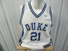 VINTAGE NIKE DUKE BLUE DEVILS CHRIS DUHON #21 LARGE BASKETBALL JERSEY 2000-04