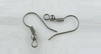 Earring Hooks Wires Fish Hooks Gunmetal / Black Ear Wires Nickel Free Lead Free
