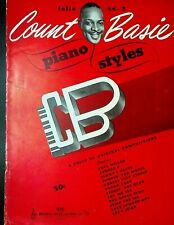 Count Basie Piano Styles Folio #3 BVC 1945 Song Book