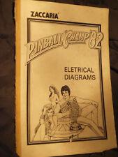 FLIPPER Champ 82 ORIGINALE schemi diagrammi elettrici MANUALE Zaccaria RARO
