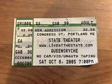 Queensryche Concert Ticket Stub - Portland Me 10/8/2005 Operation Mindcrime