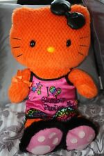 BUILD A BEAR HELLO KITTY SANRIO ORANGE/BLACK HOLLOWEEN DOLL Pumpkin on foot