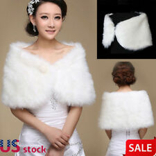 Wedding Bridal Wrap Shawl Shrug Bolero Coat Party Cocktail Tulle Shrug Faux Fur