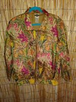 Out Brook Womens Jacket Fall Colors Size Large Zip Front Long  Sleeves