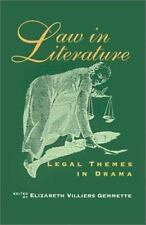 Law in Literature: Legal Themes in Drama-ExLibrary