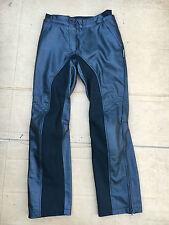 "IXS Ladies Leather Motorcycle Motorbike Trousers Size UK 10  28"" to 29"" Waist 92"