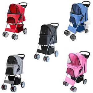 Dog Cat Pushchair Pram Jogger Trolley Puppy Jogger Folding Carrier Pet Stroller