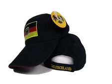 Black Germany German Eagle Deutschland Patch Hat Cap 3D embroidered
