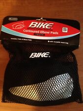 BIKE Contoured Elbow Pads Black YOUTH Small NEW #BYPE30 ONE Pair