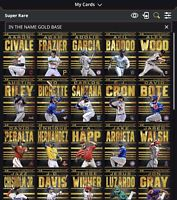 Topps Bunt In The Name Gold Base COMPLETE 40 Card Super Rare (DIGITAL) Set