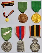 Sammlung Konvolut Lot 6 Medaillen Orden Ehrenzeichen Belgien u.a. Labor Valorem