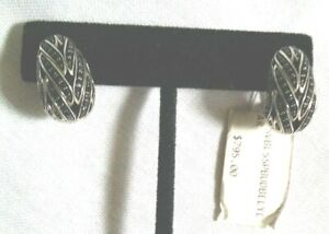 NEW WITH TAGS! JOHN HARDY Sterling Silver/Black Sapphire/Black Spinel Earrings