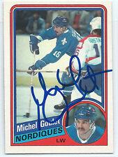 HOF Michel Goulet signed 1984-85 O-Pee-Chee Quebec Nordiques autograph