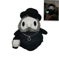 Plush Toys Props Hand GLOW IN DARK Plague Doctor Soft Plush Doll H20cm