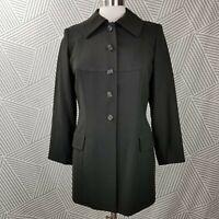 TAHARI Blazer size 8 Vintage Lined Wool Power Suit Jacket Army Green