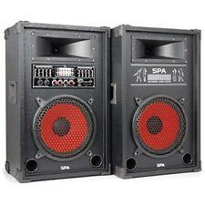 Classe Skytec actif PA DJ Box Set Karaoké Haut-parleur Paire USB SD 800w son