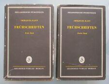 Immanuel Kant FRÜHSCHRIFTEN 2 Bde. 1961
