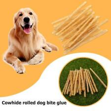 20PCS Safety Puppy Pets Dog Cowhide Roll Treat Chew Dental Cleaning Teeth Toy