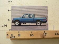 AF190-PHOTO FACTORY ? MAZDA ? PICK-UP PICKUP CAR AUTO 4WD