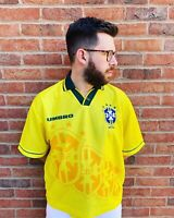 HOME SHIRT UMBRO BRAZIL 1994 1995 (XL) Jersey Trikot Maillot Maglia Camiseta
