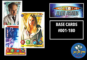 Panini Dr Doctor Who Alien Armies Cards - Standard Base Card #001-180 - PICK!