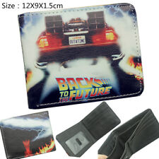 Classic Move Back to the Future Man Wallet Bifold Faux Leather Card Holder Purse
