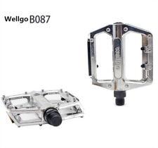 """Wellgo B087 Alloy Pedals Flat/Platform MTB BMX/Mountain Bike Pedals 9/16"""" Silver"""