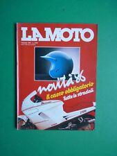 LA MOTO Gennaio 1986 Gilera 125 Hawk 250 Rally Honda XR 600R Suzuki GSX 1100R