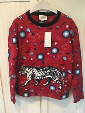 NWT FW'18 GUCCI Space Tiger Red Sweatshirt , L