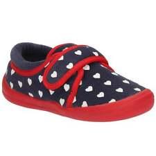 New Clarks Cuba Elle Infant Girls Kids Winter slippers House shoes Red DOODLES