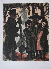 """WILHELM GRIMM , 1904 EBERSTADT - 1986 HAMBURG . """" DIE TEUFELSGEIGE """" signiert ."""