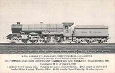 Baltimore Maryland King George V Train Antique Postcard J66355