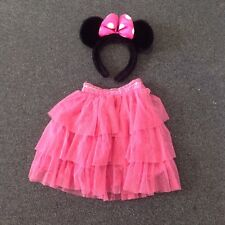 Velvet & Pink Mini Mouse Ears & Pink Frilly Skirt, Age 4 Years