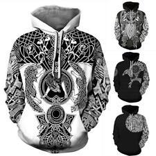 Viking Tattoo 3D Print Funny Mens Women Hoodie Sweatshirt Pullover tops Jumper