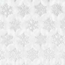 Caspari Continuous Gift Wrapping Paper Roll, Silver Snowflake, 8-Feet (9508RC)
