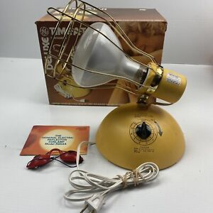 Vintage Deluxe Time-A-Tan GE Working Suntanner Lamp RSK6A with Bulb 1982