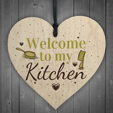 Welcome My Kitchen Plaque House Door Wall Sign Mum Dad Nan Grandad Birthday Gift