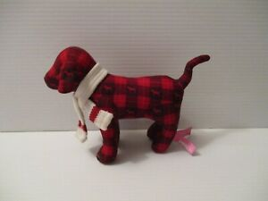 Red Black Plaid Dog with Scarf P Pink Victoria's Secret Early 2007