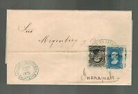 1876 Zacatecas to Guanajuato Mexico Letter Cover